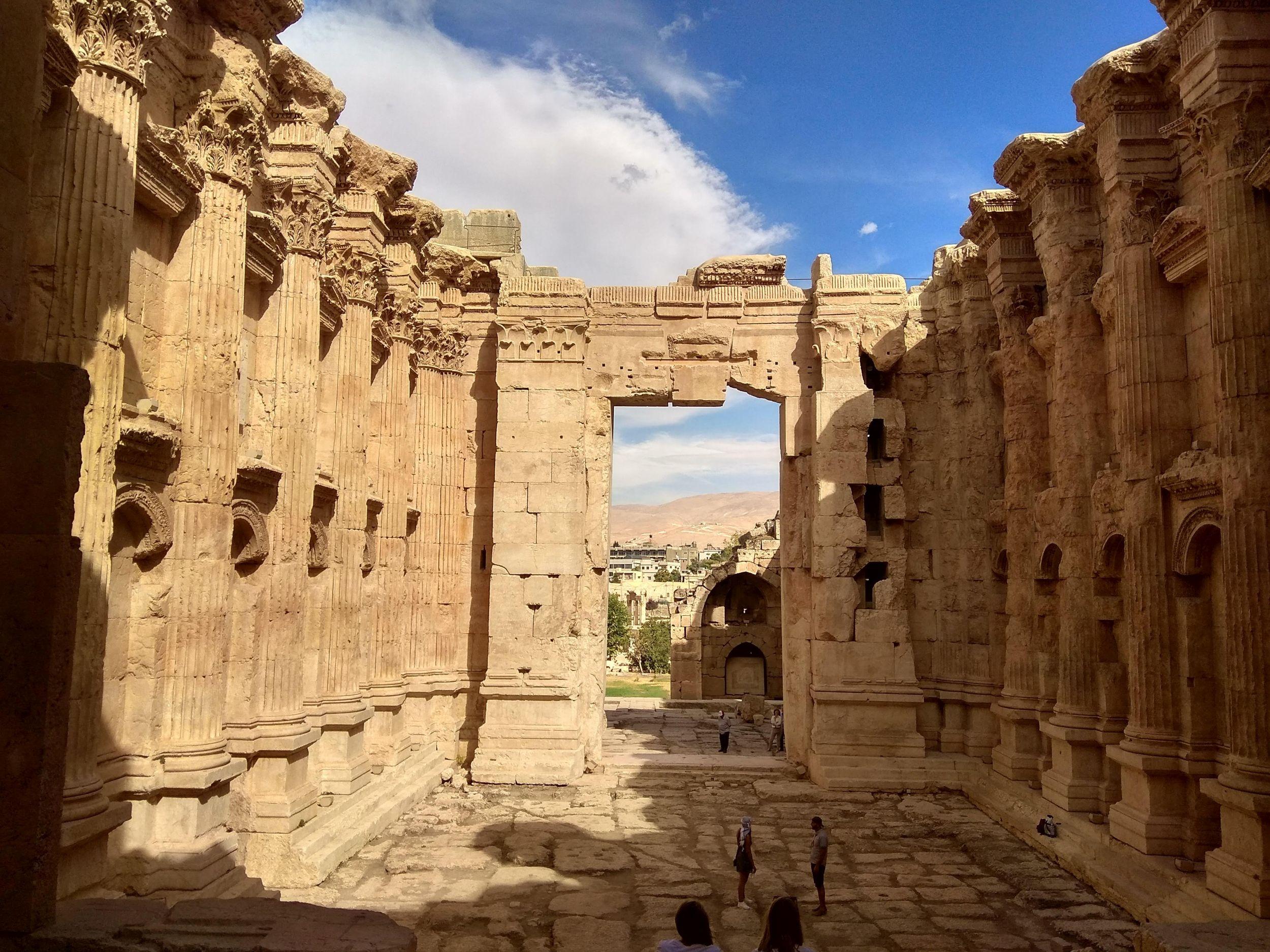 Bakchuv chrám-pohled na vychod