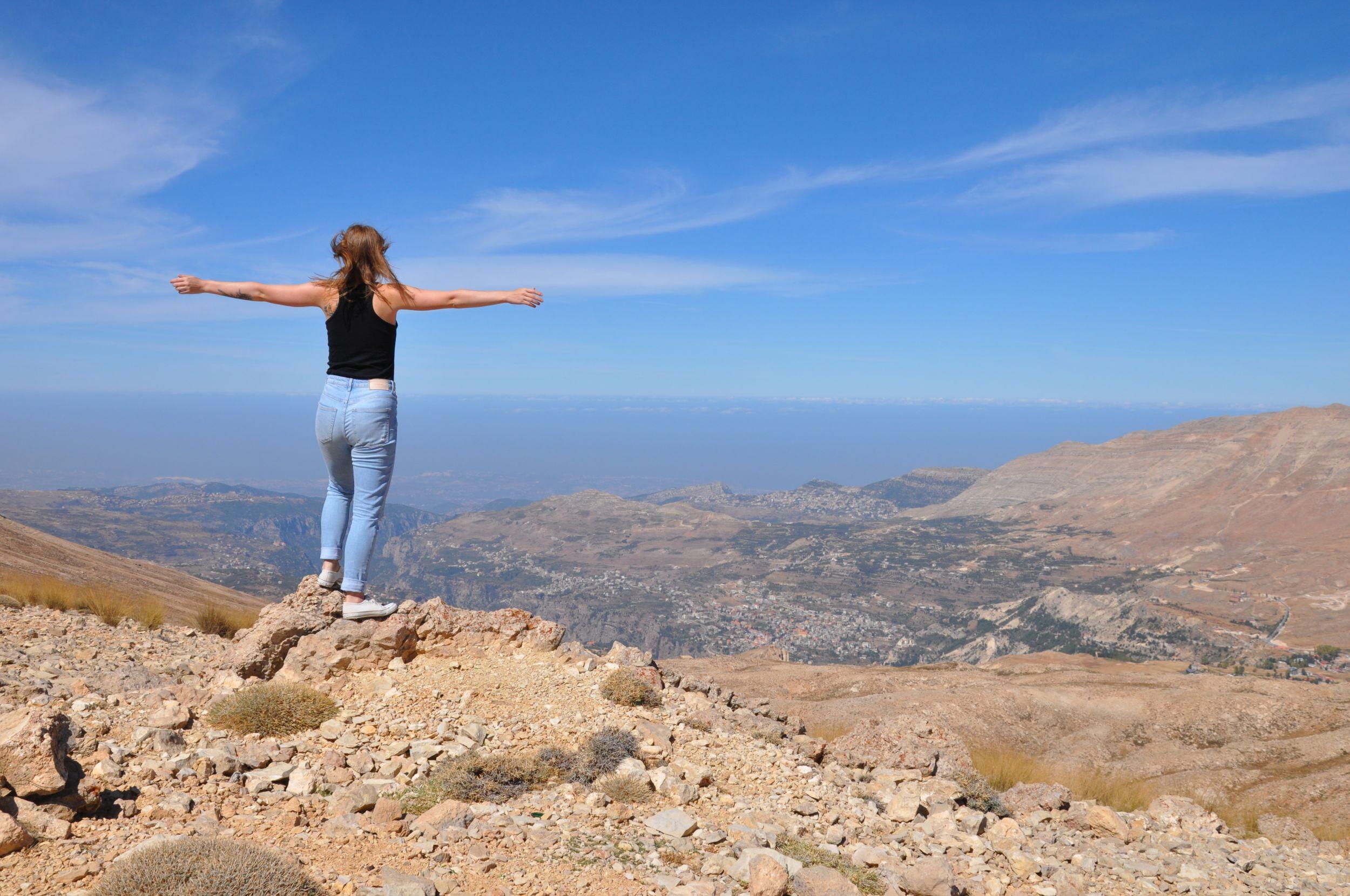 Výhled z vrcholu hory-Aneta Viktorová
