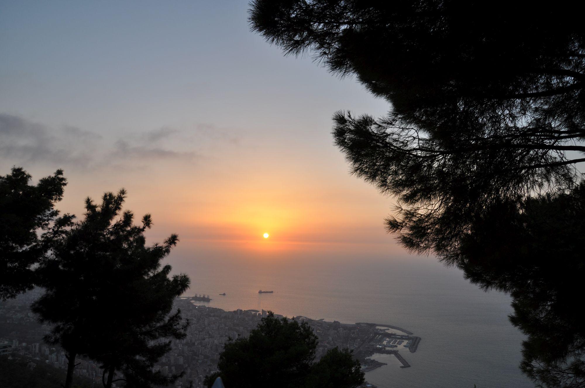 Bejrút, západ slunce