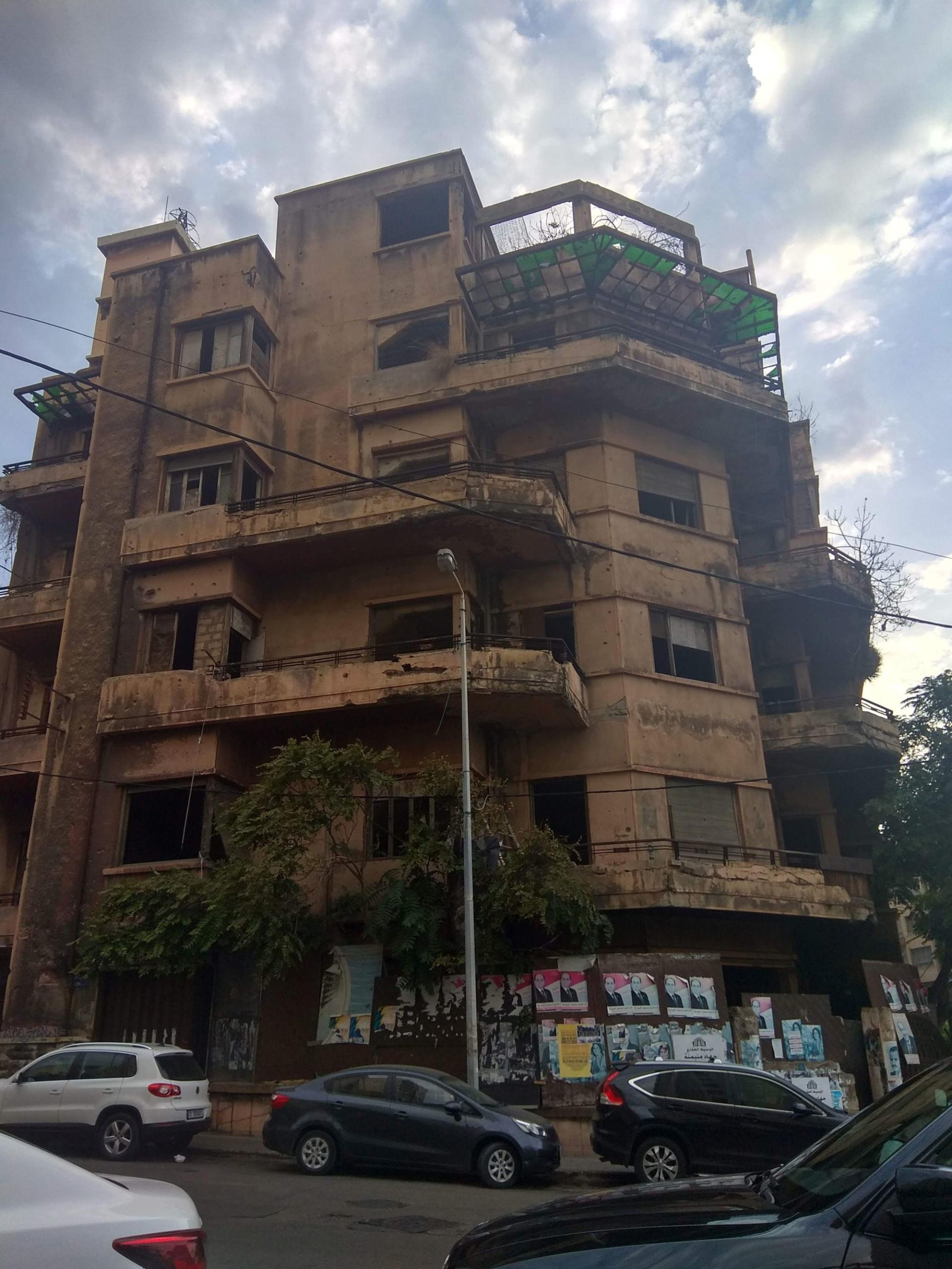 Bejrút, opuštěný dům