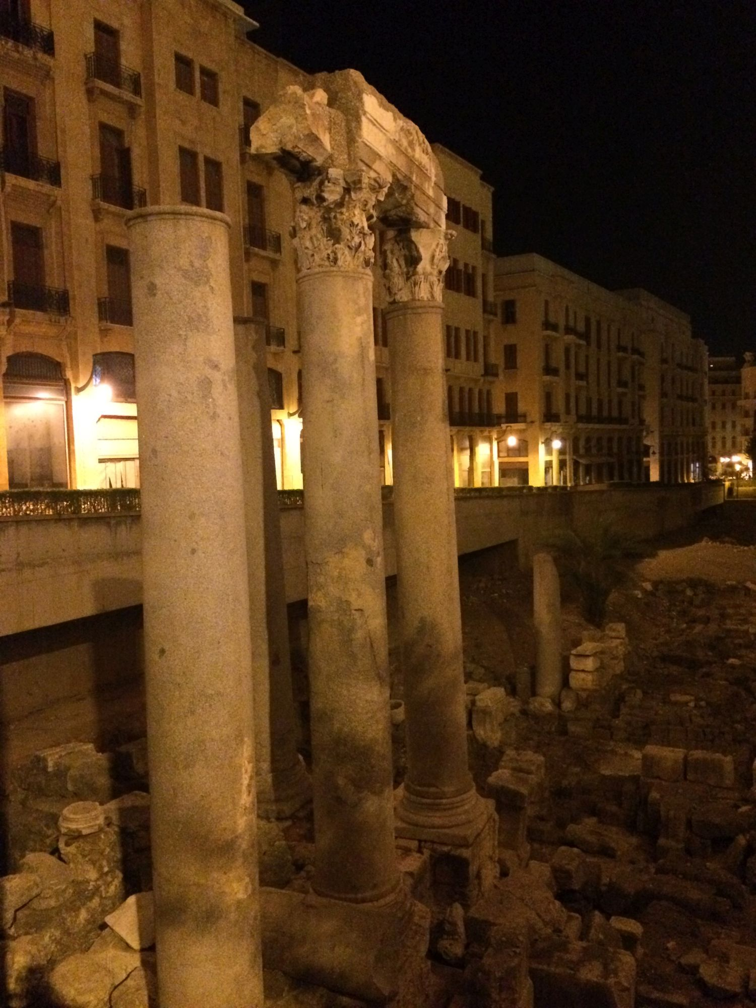 Bejrút, pozůstatek chrámu