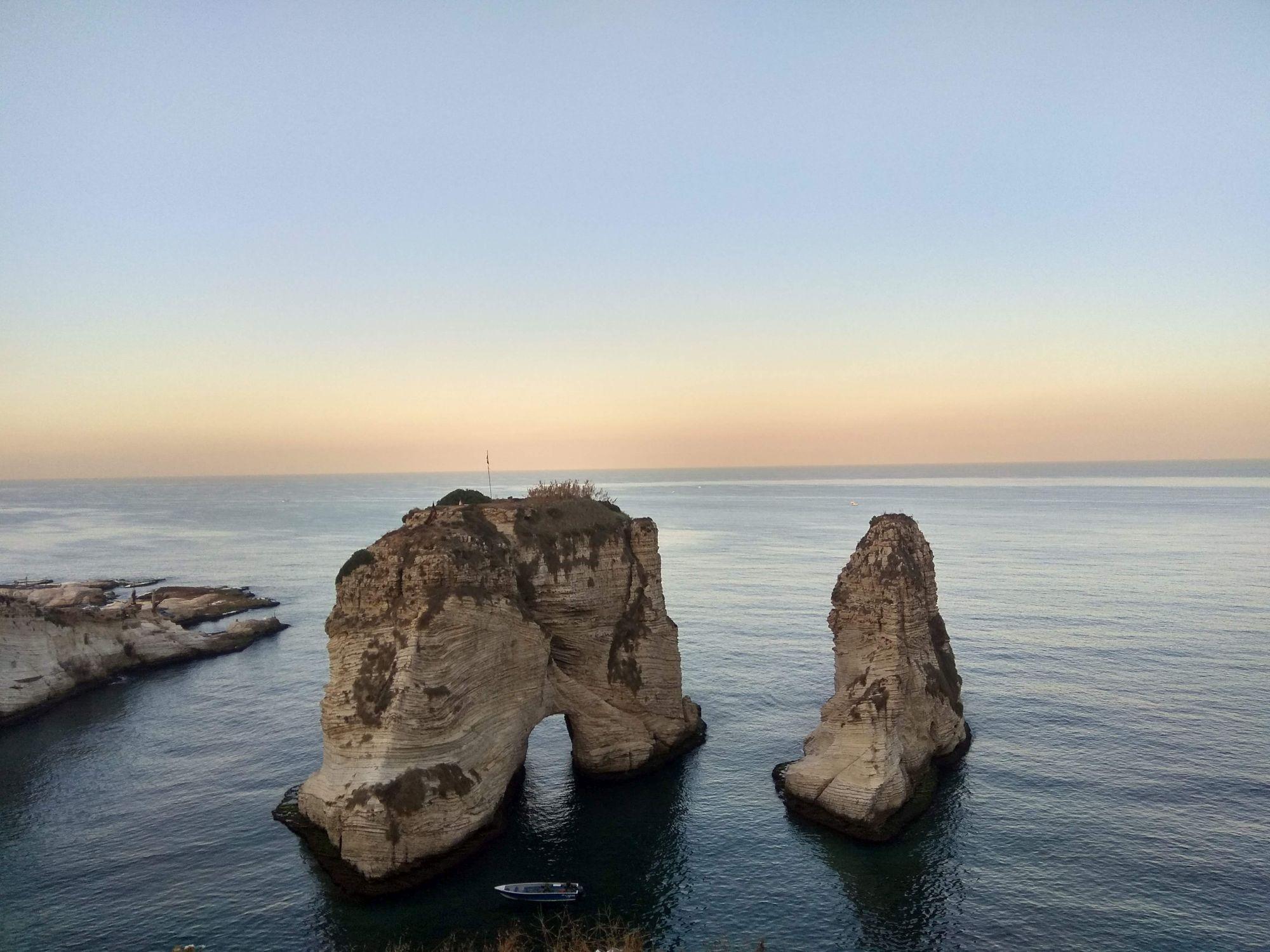 Bejrút, skály Rauche