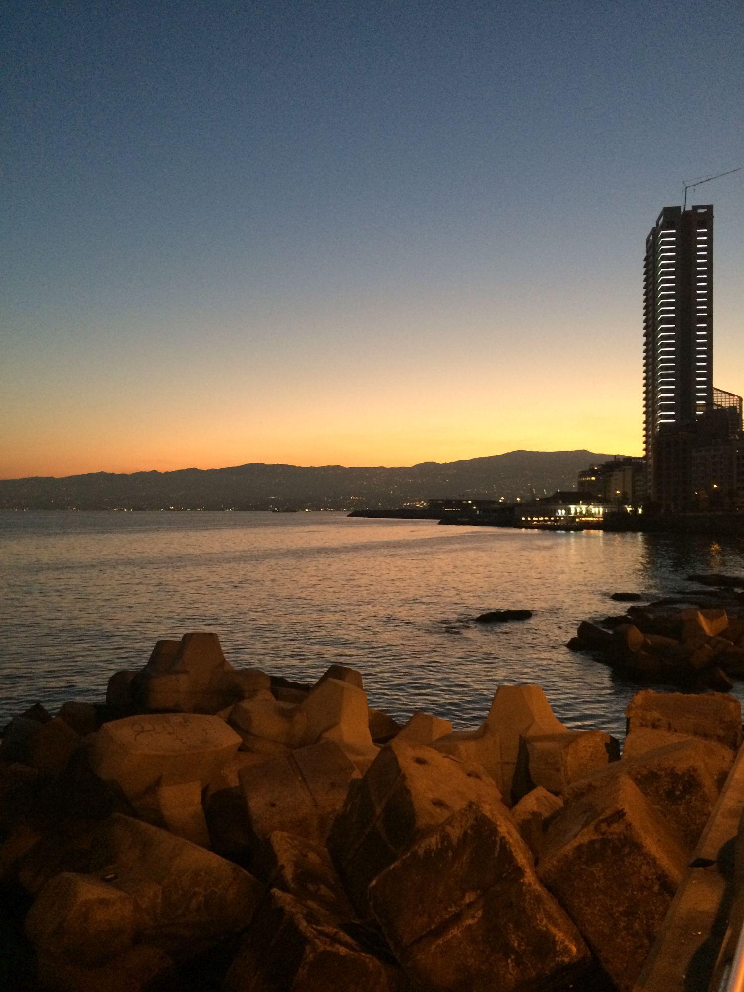 Bejrút, východ slunce